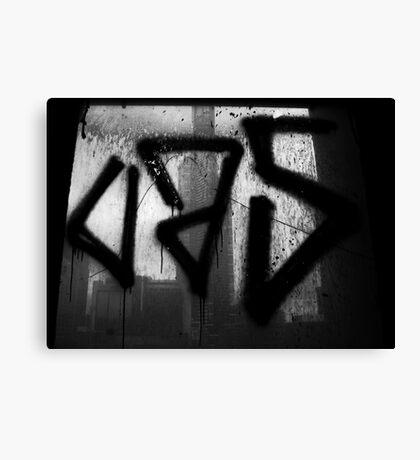 Juxtaposition (Eureka & Graffiti) Canvas Print