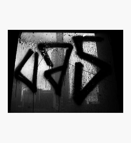 Juxtaposition (Eureka & Graffiti) Photographic Print