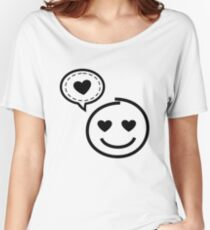 Smiley : Love Emoji Face Women's Relaxed Fit T-Shirt