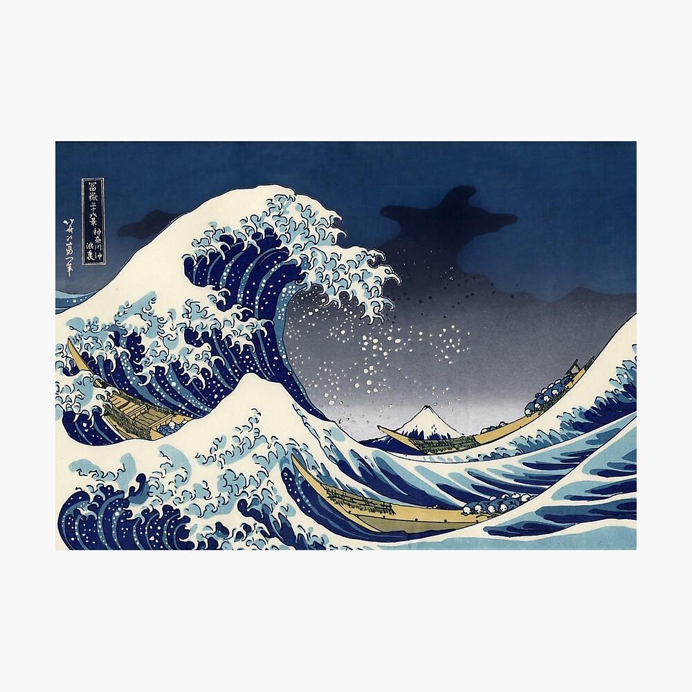 Große Welle: Kanagawa-Nacht Fotodruck