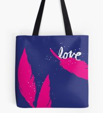 Feather Love Tote Bag