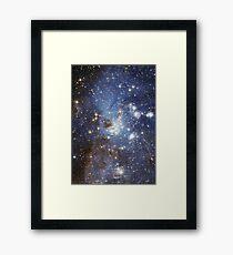 Blue Galaxy Framed Print