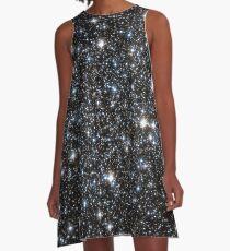 Glitter-Galaxie A-Linien Kleid