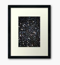 Glitter Galaxy Framed Print
