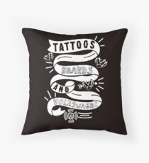 VW Tattoo's & Breads Throw Pillow