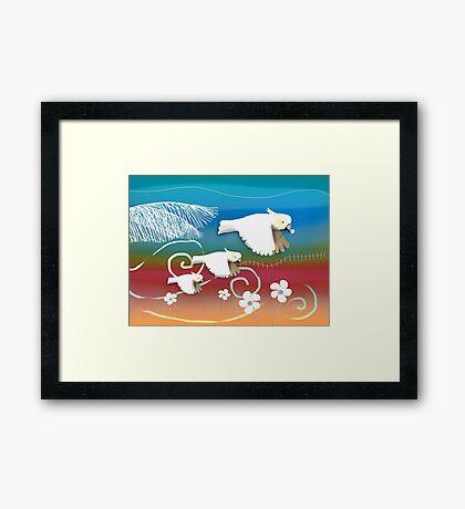 Sulphur-crested Cockatoos II Framed Print