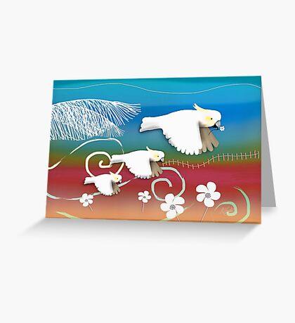 Sulphur-crested Cockatoos II Greeting Card