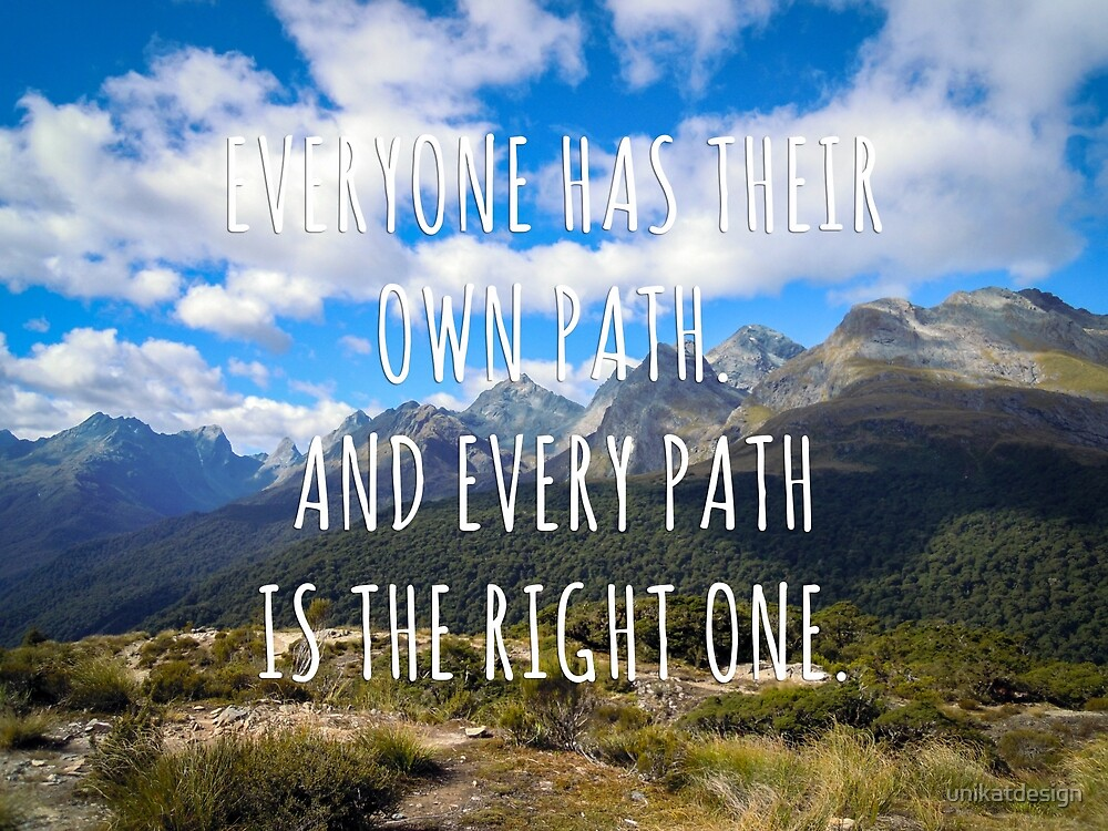 Everyone has their own path - New Zealand Travel Series by unikatdesign