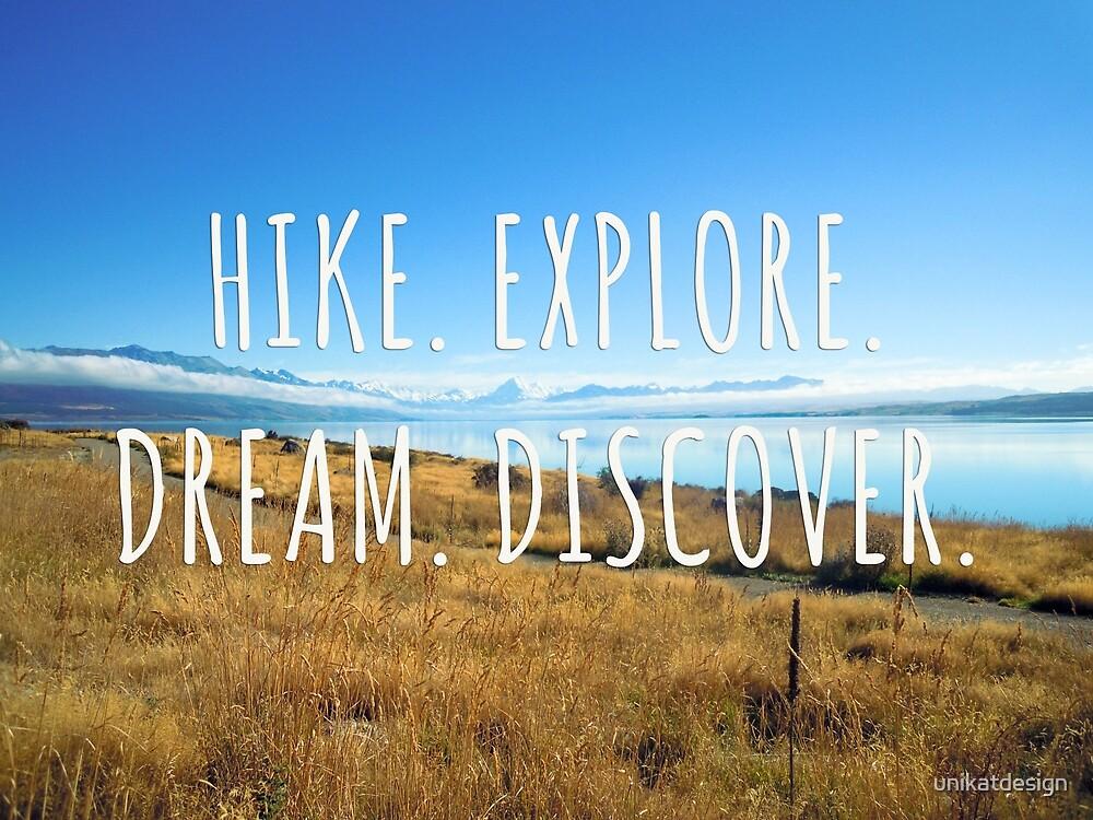 Hike. Explore. Dream. Discover. - New Zealand Travel Series by unikatdesign