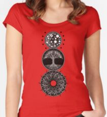 EP. MOON / LIFE / SUN Women's Fitted Scoop T-Shirt