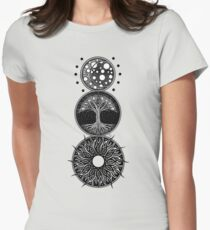 EP. MOON / LIFE / SUN Womens Fitted T-Shirt