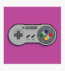 Nintendo SNES Controller Photographic Print