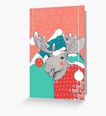 Christmoose, Winter Moose Greeting Card