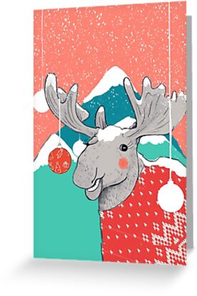 Christmoose, Winter Moose by What-Katy-Loved