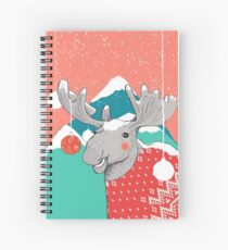 Christmoose, Winter Moose Spiral Notebook