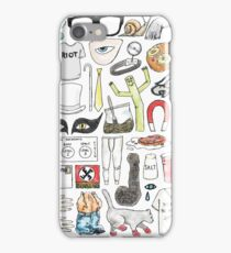 It's Always Sunny in Philadelphia Flat Lay Hand Drawn Illustration iPhone Case/Skin