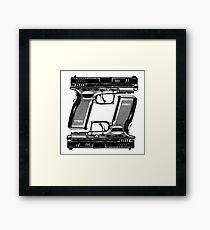 Gun Double Framed Print