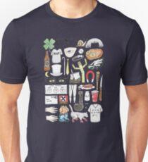 It's Always Sunny in Philadelphia Flat Lay Hand Drawn Illustration Unisex T-Shirt