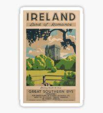 Ireland Land of Romance Sticker