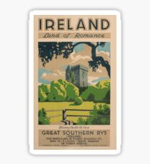 Ireland Land of Romance Sticker