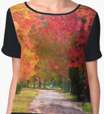 Autumnal Glory Women's Chiffon Top