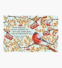 Jane Eyre Quote Photographic Print
