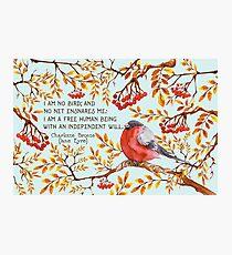 Jane Eyre Quote Photographic Print