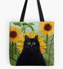 Dan de Lion with Sunflowers Tote Bag