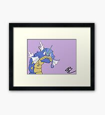Gyarados with a closed mouth Framed Print