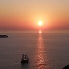 Sailing By Sunset - Oia Santorini- Greece by mikequigley