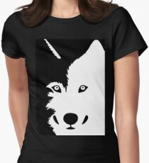 huskie Women's Fitted T-Shirt