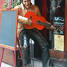 Elvis is outside the building by Tom Gomez