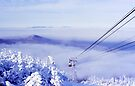 Tram in the Clouds on Cannon Mountain by Wayne King