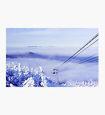Tram in the Clouds on Cannon Mountain Photographic Print