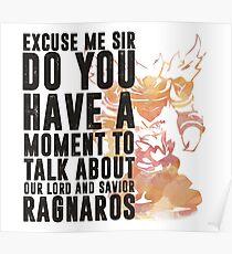 Ragnaros-Spiel Wordart Poster