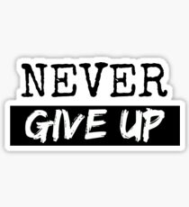 "Pegatina ""Never Give Up"""