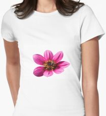bee on dahlia in the garden Womens Fitted T-Shirt