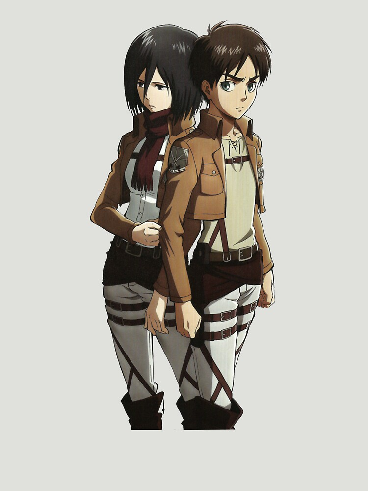 Mikasa und Eren Anime inspiriert Shirt von MaximizedGITS