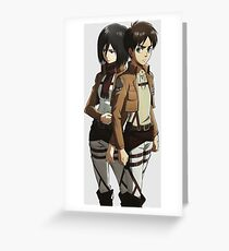 Mikasa and Eren Anime Inspired Shirt Greeting Card