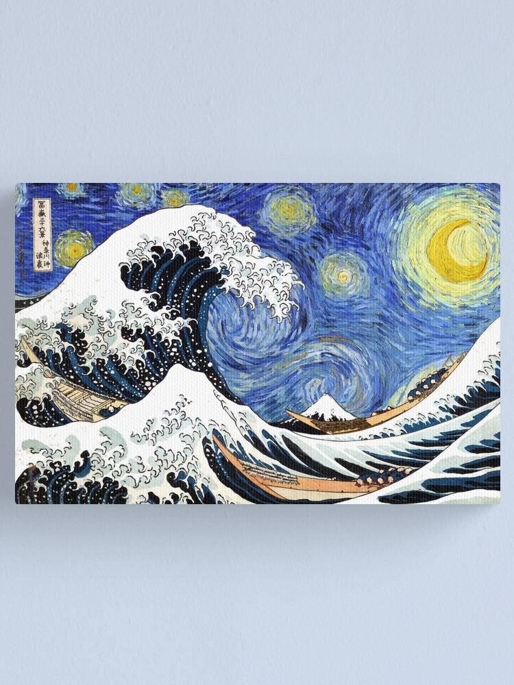 Alternate view of Iconic Starry Night Wave of Kanagawa Canvas Print