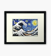 Iconic Starry Night Wave of Kanagawa Framed Print
