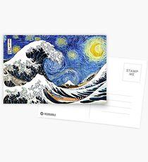 Iconic Sternennachtwelle von Kanagawa Postkarten