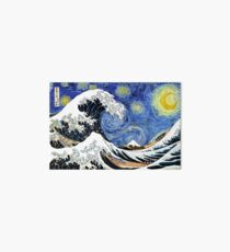 Iconic Starry Night Wave of Kanagawa Art Board