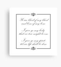 Scottish vows, wedding vows Canvas Print