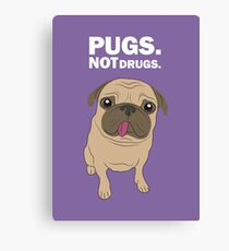 Pugs. Not drugs. Canvas Print