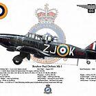 Boulton Paul Defiant Mk I by AH-Aviation-Art