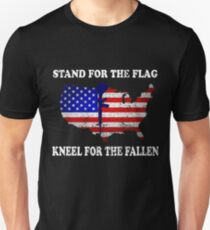 Stand for the Flag Kneel for the Fallen Memorial's Day Unisex T-Shirt