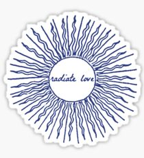 RADIATE LOVE - Be Here Now, Ram Dass, Spirituality (Dark Blue) Sticker