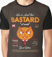 Avoid That Bastard at Work Magazine Graphic T-Shirt