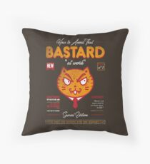 Avoid That Bastard at Work Magazine Throw Pillow